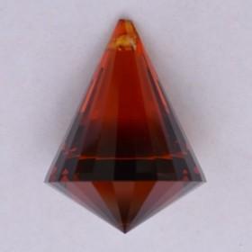 Хрустальная подвеска Пирамида цветная