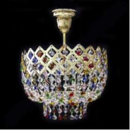 Корона с подвесом разноцветная