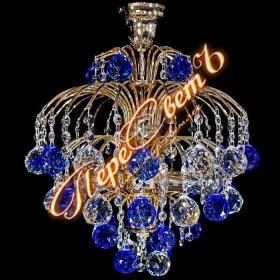 Люстра Брызги шампанского Шар 40 с макушкой цветная