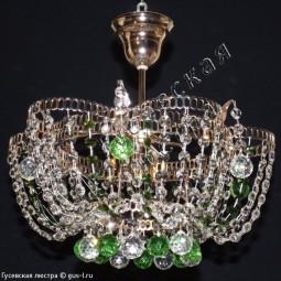 Люстра Ромашка Тюльпан Шары 30 с подвесом 1 лампа цветная