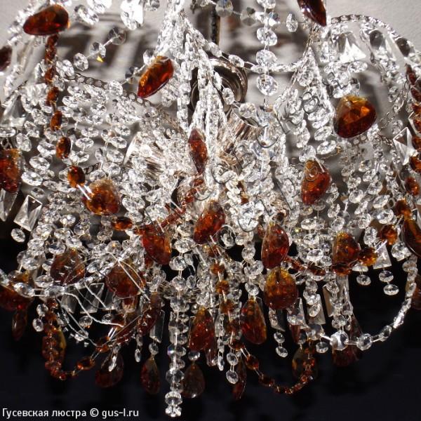 Люстра Арина 30 Журавлик с подвесом цветная