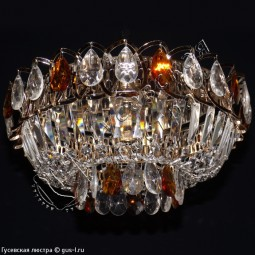 Люстра Катерина 1 лампа цветная